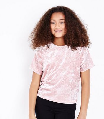 Teens Shell Pink Velvet Box T-Shirt