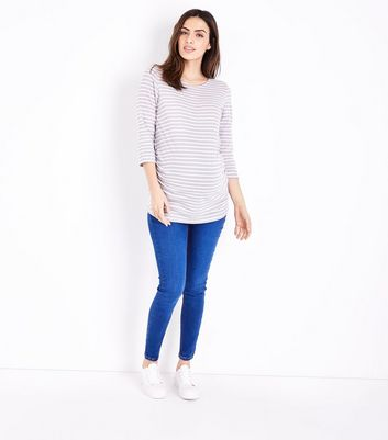 Maternity Bright Blue Over Bump Jeggings