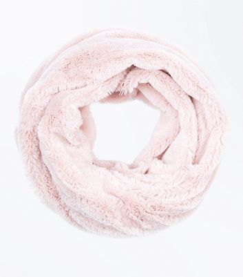 Pink Teddy Faux Fur Snood