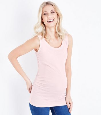 Maternity Pale Pink Scoop Neck Vest