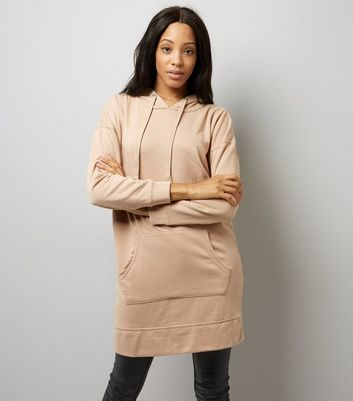 Stone Pocket Front Longline Hoodie