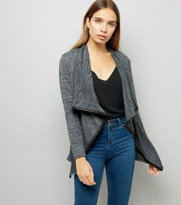 Mela Dark Grey Longline Cardigan