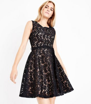 Mela Black Daisy Lace Dress