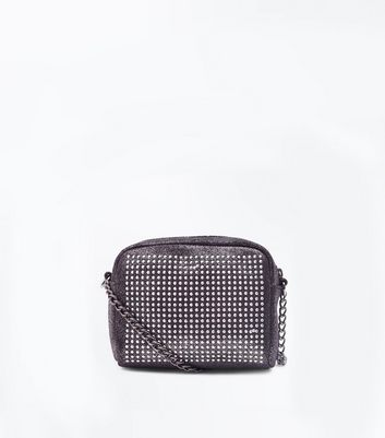 Pewter Studded Micro Bag