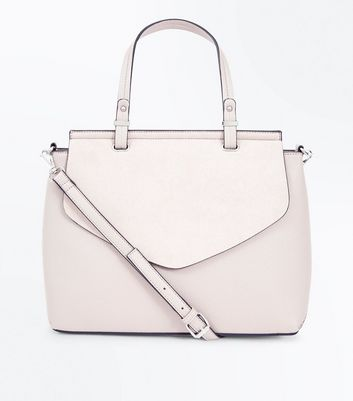 Cream Top Handle Satchel Bag