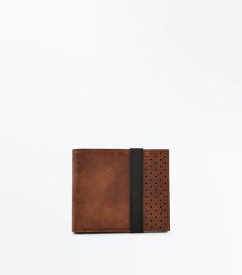 Tan Elasticated Perforated Wallet
