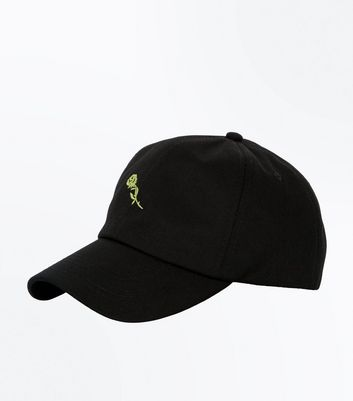 Black Rose Embroidered Cap