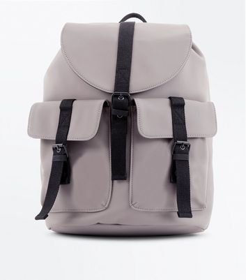 Light Brown Double Pocket Backpack