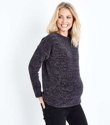Maternity Dark Grey Chenille Jumper