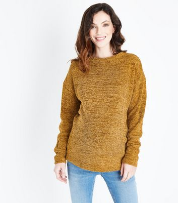 Maternity Mustard Yellow Chenille Jumper