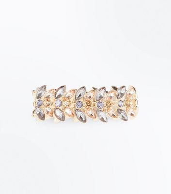Gold Gem Petal Stretch Bracelet