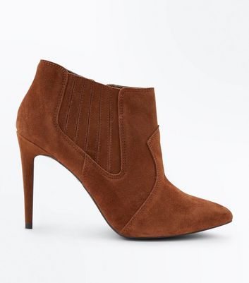 Tan Suede Pointed Western Shoe Boots