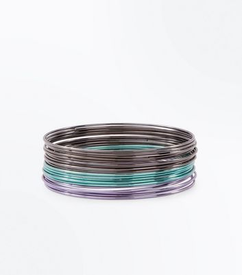 Lot de bracelets fins multicolore