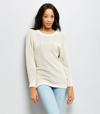 Apricot Stone Batwing Sleeve Button Back Jumper