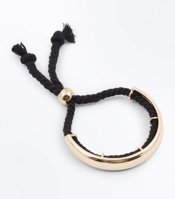 Black Rope Toggle Bracelet