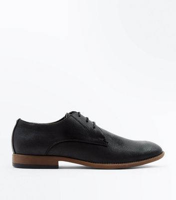 Black Stitch Side Derby Shoes