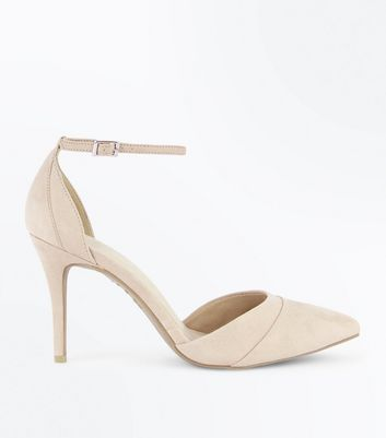 Comfort Flex – Spitze Pumps in Nude und Wildleder-Optik
