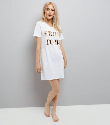 White Bride To Be Longline Pyjama Top