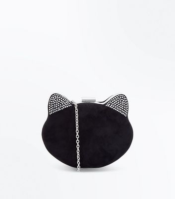 Black Round Cat Chain Shoulder Bag