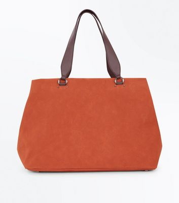 Rust Slouchy Tote Bag