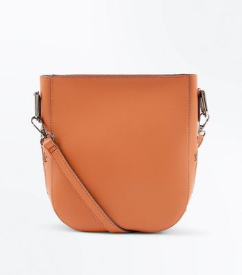 Tan Embroidered Side Cross Body Bag