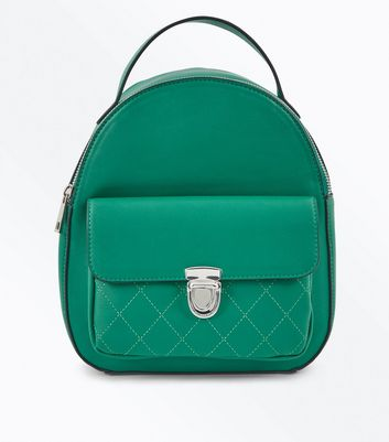 Dark Green Pocket Mini Backpack