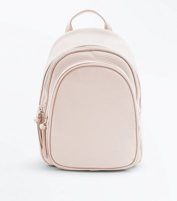 Cream Double Zip Around Mini Backpack