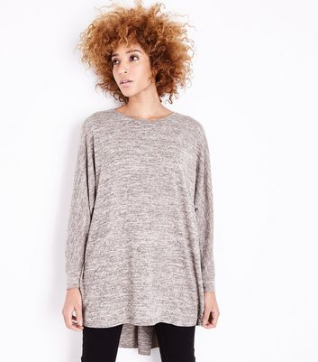 Camel Brushed Batwing Sleeve Top
