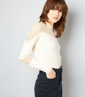 Cameo Rose Cream Lace Insert Jumper