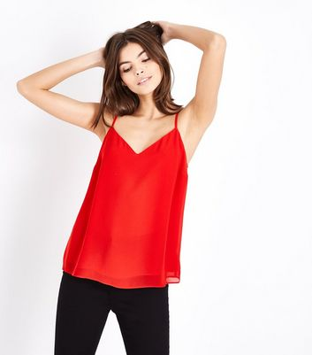Red Strappy Back Cami