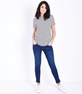 Maternity Blue Rinse Under Bump Skinny Jeans