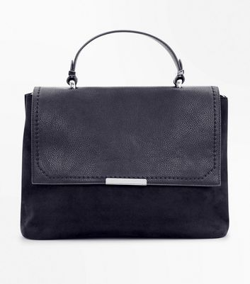Black Suedette Satchel Bag