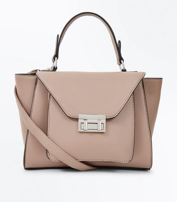 Camel Top Handle Winged Tote Bag