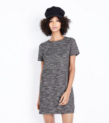 Black Marl Fine Knit Tunic Dress