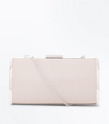 Pochette rigide couleur or rose
