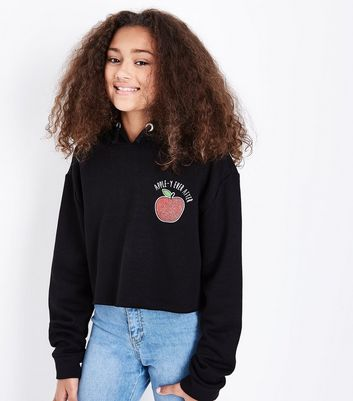 Black Apple-Y Ever After Slogan Hoodie