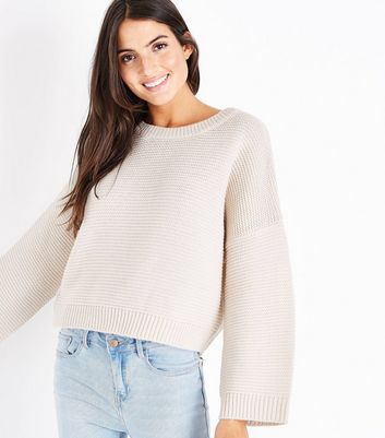 Stone Wide Sleeve Jumper