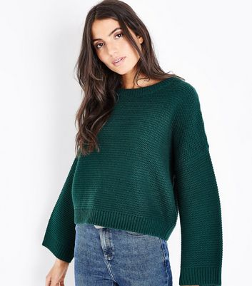 Dark Green Wide Sleeve Jumper