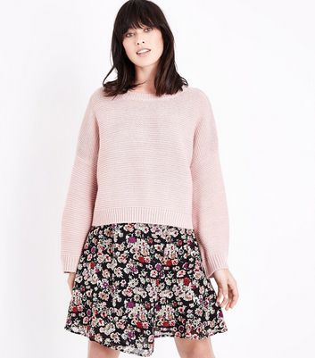 Pale Pink Wide Sleeve Jumper