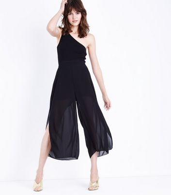 Cameo Rose Black Wrap Side Culottes
