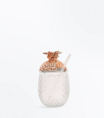 Rose Gold and Crystal Pineapple Cocktail Glass