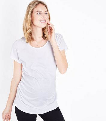 Maternity White Short Sleeve T-Shirt