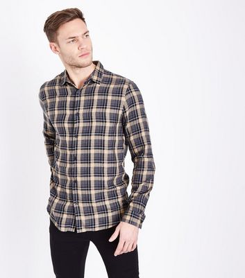 Camel Check Collared Shirt