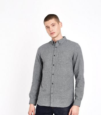 Grey Marl Oxford Shirt