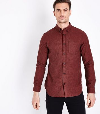 Rust Marl Oxford Shirt