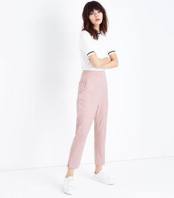 Pale Pink Slim Leg Trousers