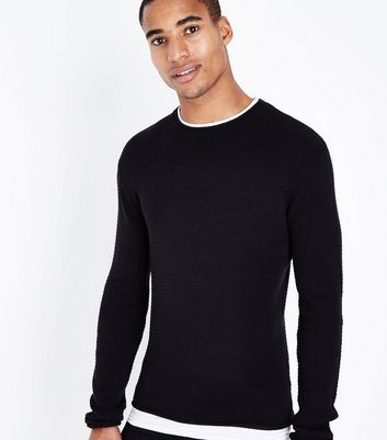 Black Long Sleeve Layered Jumper