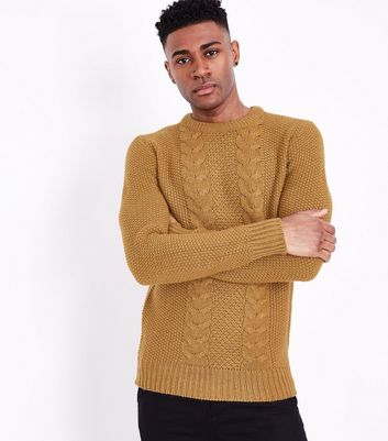 Mustard Cable Knit Jumper