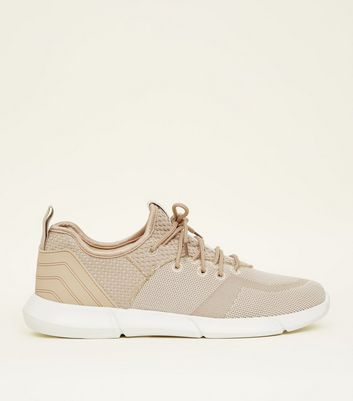 Stone Marl Knit Trainers