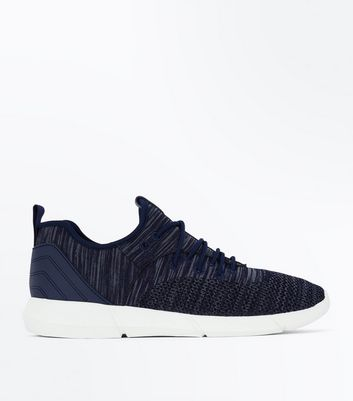 Navy Marl Knit Trainers